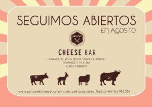Seguimos_Abiertos Cheese bar verano 2016