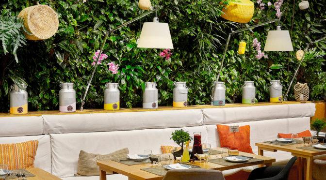 El jardín vertical de Poncelet Cheese Bar